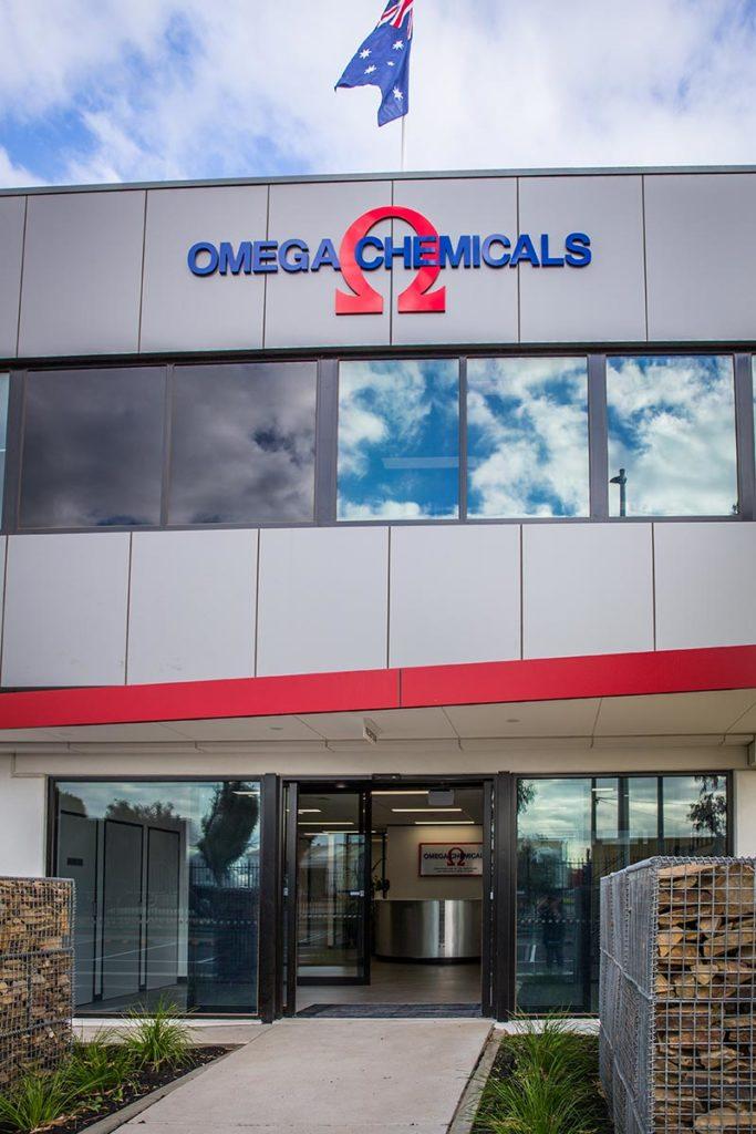 Front entrance - Omega Chemicals
