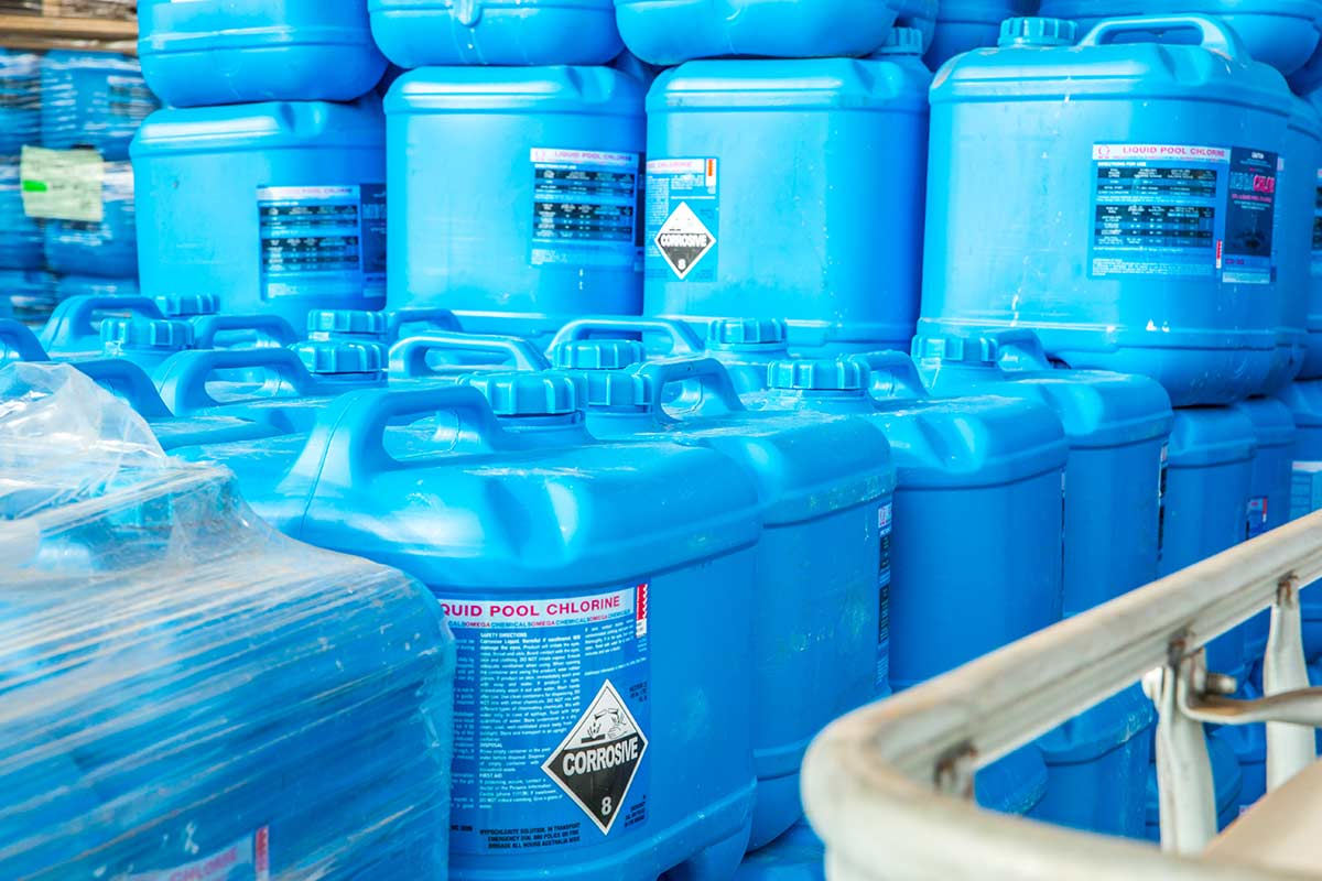 Liquid Pool Chlorine Storage
