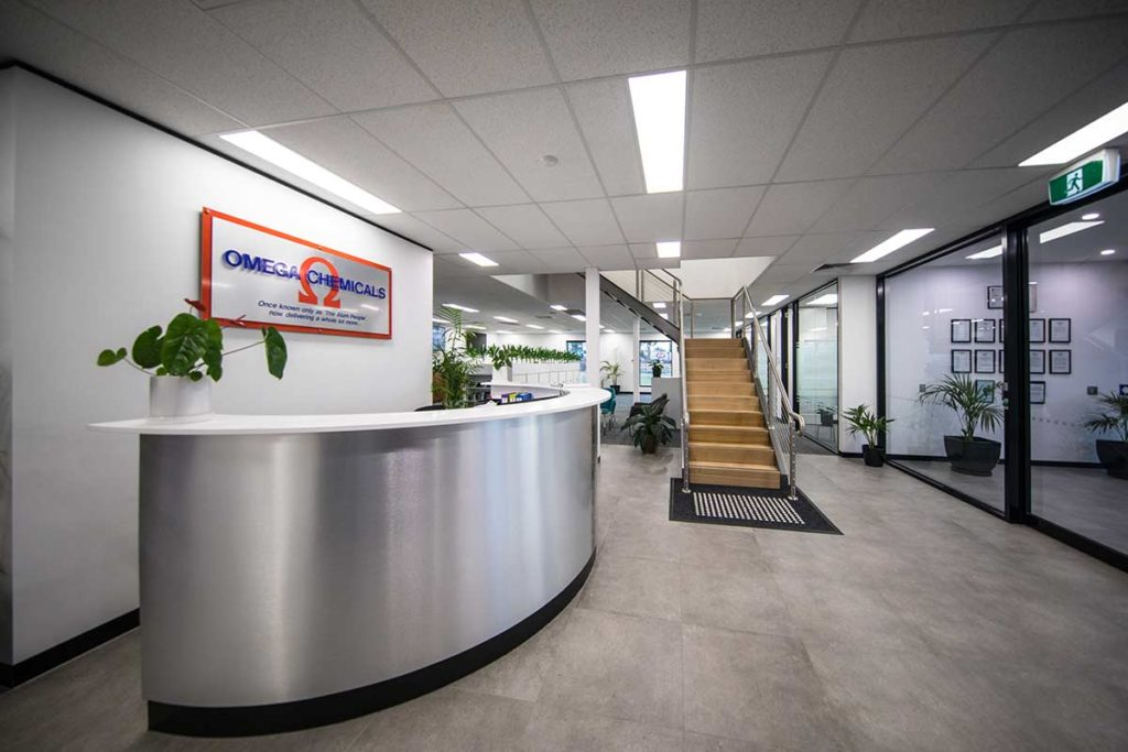Omega Chemicals Entrance Reception