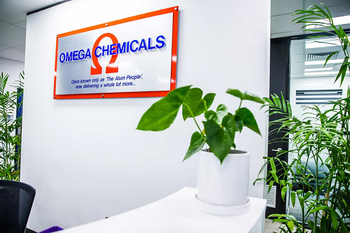 Omega Chemicals Reception Area